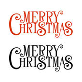 Merry Christmas Lettering for Greeting Card. Vector — Διανυσματικό Αρχείο