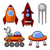 Spaceships Icons Set — Cтоковый вектор