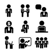Business and Office People Icon Set — Cтоковый вектор