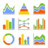 Graph and Charts, Diagrams. Infographic Set Elements. Vector — Stock Vector