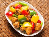 Chinese takeout sweet and sour pork — Stockfoto