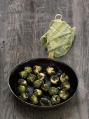 Rustic roasted brussels sprout — Stock Photo