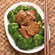 American chinese beef and broccoli — Stock Photo #71364751