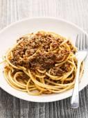 Rustic italian spaghetti bolognese — Stock Photo