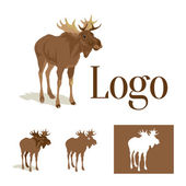 Isolated Moose for logo — Stock Vector