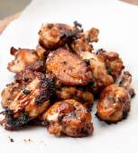 Oven roasted chicken wings — Stock Photo