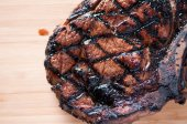 Rare rib steak — Foto de Stock