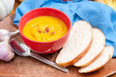 Home made squash soup — Stock Photo
