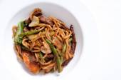 Sliced beef with udon noodle — Stock Photo