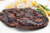 Bbq rib steak off the grill — Stock Photo
