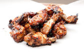 Oven roasted chicken wings — Zdjęcie stockowe