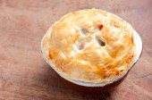 Turkey pot pie with pastry top — Stok fotoğraf