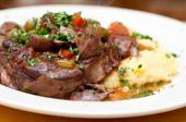 Osso buco veal shank — Stock Photo