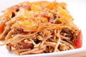 Baked spaghetti  — Stock Photo