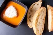 Soupe de tomates et chickepea — Photo