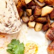 Eggs, sausage and home fries breakfast — Stock Photo #84301858