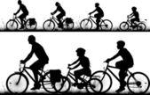 Bike - vector silhouettes — Stock Vector