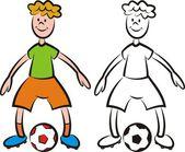 Jugador de fútbol de vectores - delantero — Vector de stock