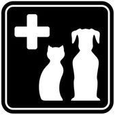 Veterinary care isolated icon — Stock Vector