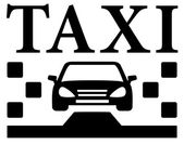 Black taxi icon — Stock Vector
