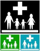 Set family medical icons — 图库矢量图片