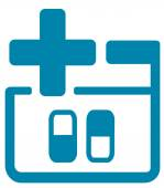 Medical icon with pills — Stockvector