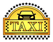 Yellow taxi blazon — Stock Vector