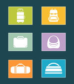 Set colorful icons with bags — Stock Vector