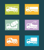 Set colorful industrial transport icon — Stock Vector