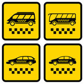 Set four taxi icons — Stock Vector