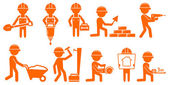 Set repair man with tools for construction — Stock Vector