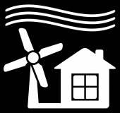 Windmill power icon — Stock Vector