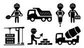 Building industrial icon for construction industry — Stock Vector