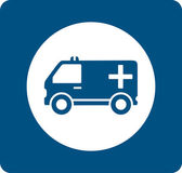 Blue medicine ambulance icon — Stock Vector