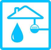 Pipeline meter with drop of water — Stock Vector