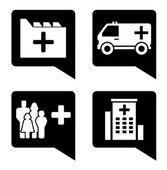 设置医疗指针 — 图库矢量图片