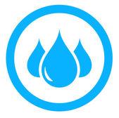 Aqua icon with drop — Stock Vector