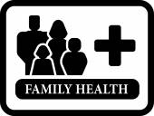 Family health icon — Stock Vector
