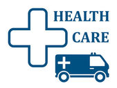 Health care ambulance car icon — Stock Vector