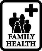Family health sign — Stock Vector