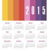 Calendar 2015 year — Stock Vector