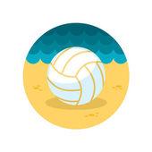 Volleyboll flat ikonen — Stockvektor