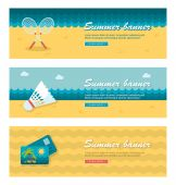 Travel and vacation vector banners — Stock Vector