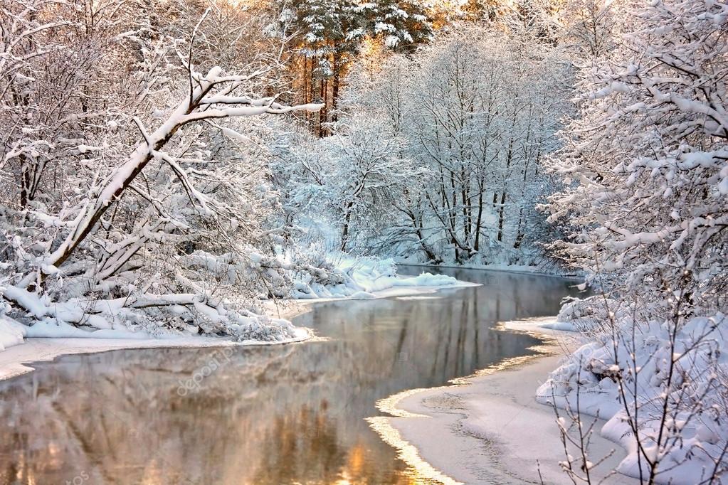 Фотообои Зимний пейзаж