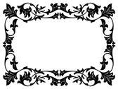 Calligraphy penmanship curly baroque frame black — Stock Vector