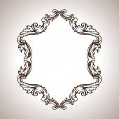 Vector engraving frame in antique style — Stock Vector