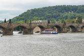 Czech Republic, Prague. View of Karlov Bridge — Stock Photo