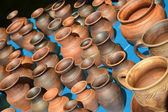Sale of ceramic ware at fair of national creativity — Стоковое фото