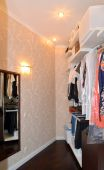 The wardrobe room in the modern apartment — Stock Photo