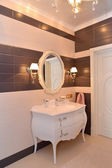 Bathroom interior fragment. Modern classics with rococo elements — Stock Photo